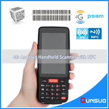 New 4.0 Inch Wireless Android barcode scanner PDA data terminal pos handheld data collector with bluetooth,4G, Wifi,GPS