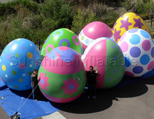 Popular outdoor colorful giant inflatable easter egg for easter decoration