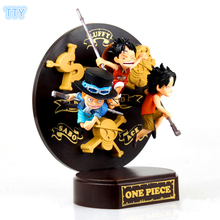 One Piece Action Figure Luffy Ace Sabo Decoration Figures 16cm PVC model Toys for kids Best Collection Gifts with retail box(China)