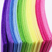 Patchwork Rainbow color Felt Fabric Cloth Felts Sewing Fabric For Diy Felt Craft Fieltro Feltro Polyester Fabric feutrine(China)