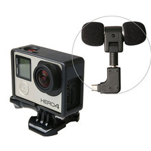 3.5mm Mini Stereo Microphone for Gopro Hero 4 3+ 3 with USB Microphone Adapter Mic Sponge Windshield