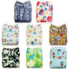 Baby Diapers Cloth Cartoon Waterproof Breathable Leak-Proof Quick-Drying Environmentaly Washable Diapers Reused With Disposable