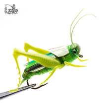 Grasshopper Lure Flies Dry Fly Fishing Flies Set Realistic Fly Tying Kit  for Pike Rainbow Trout flyfishing