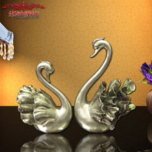 2016 Rushed Hot Sale European Resin Handicraft Ornaments Jewelry Lovers Swan Holiday Gifts Gift Home Furnishing Decoration