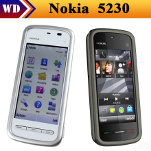 "5230 Original Nokia 5230 GPS 3G 3.2"" Bluetooth JAVA 2MP Unlocked Mobile Phone One Year Warranty Refurbished"