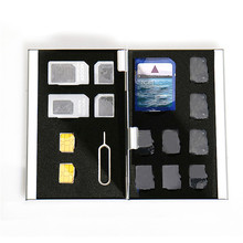403 metal storage protection double card memory card SIM card box Newest Organizer bag double-layer metal storage Fashion Gift(China)