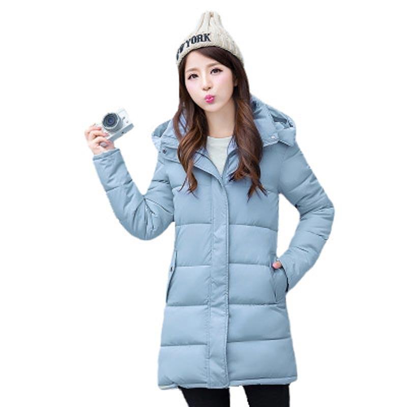 2017 New Fashion Winter Jacket Women Large size Loose Thick Long Down Cotton Coat Hooded Slim Parkas Outerwear PW0287Одежда и ак�е��уары<br><br><br>Aliexpress