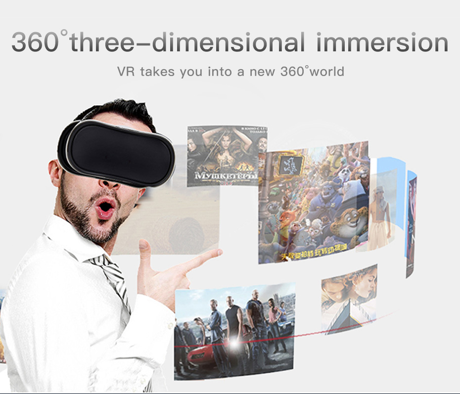vr headset vr glasses virtual reality for pc HDMI All In One 3d glasses VM02-7