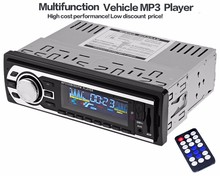 Model Universal 1 Din Car Radio 1Din Car Audio Stereo FM SD MP3 Player AUX USB In-Dash Car Electronics with Remote Control(China)