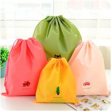 Fashion Cartoon Drawstring Pouch Travel Bags Clothes Storage Luggage Bags Waterproof Clothing Bag Shoe Bag 5 Colors