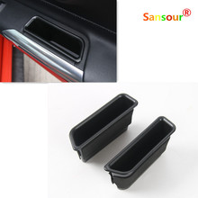 Car Door Side Armrest Handle Storage Box Cover Fit For Ford Mustang 2015 2016 Car Container Accessories