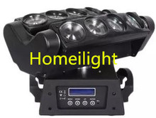 Dj club crazy love in 6pcs x LED spider moving beam light RGBW 4in1 Moving head light led spider light