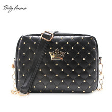 Fashion Crossbody Bags For Women Rivet Chain Shoulder Bag Female Women Messenger Bag Small Crossbody Bags High Quality Handbag(China)