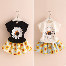Sunflower children suit 2017 summer girls wear short skirt Korean version of the new two piece tz-2291