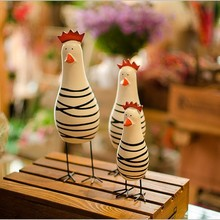Explosion of Creative Zakka Hand Carved Three Chicken Log Animal Home Furnishing Holiday Gift Ornaments