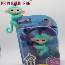 pb playful bag New Fingertip Child Toy Finger Monkey non Interactive Colorful 13cm Decompression toy Children gift Christmas(China)