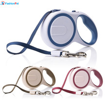 3M 5M Length Double Color Pet Dog Retractable Leash Lead for Medium Small Pet Dog(China)