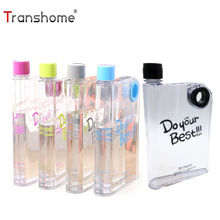 Buy Transhome Plastic Water Bottle 450ml Creative A5 Transparent Notebook Portable Leak-proof Bottles Outdoor Sport Travel for $4.99 in AliExpress store