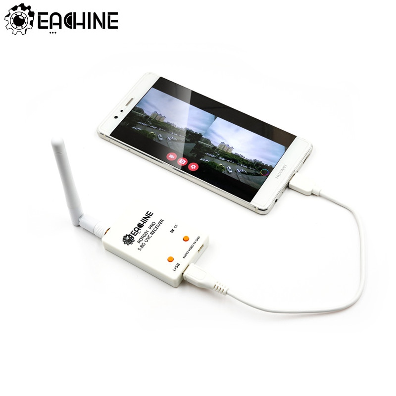 Eachine ROTG01 Pro UVC OTG 5.8G 150CH Full Channel FPV Receiver W/Audio For Android Smartphone(China)