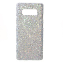 Dulcii Case For Samsung Galaxy Note 8 Leather Coated PC Mobile Casing for Samsung Galaxy Note 8 - Glittery Sequins / White