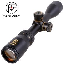 FIRE WOLF Riflescope VT 3-9x40 Green glass Rifle Scope Outdoor Reticle Sight Optics Sniper Deer Tactical Hunting Scopes(China)
