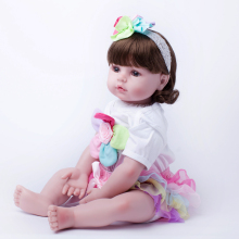 55cm Soft Silicone Reborn Baby Princess Doll Toy Newborn Girl Baby Collectable Princess Toddler Doll Birthday New Year Gift(China)