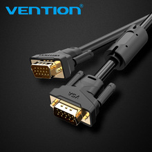 Vention VGA Cable 3+6 1m 2m 3m 5m 10m Braided Shielding VGA To VGA Cable For HDTV PC Laptop TV Box Projector Monitor cable vga(China)