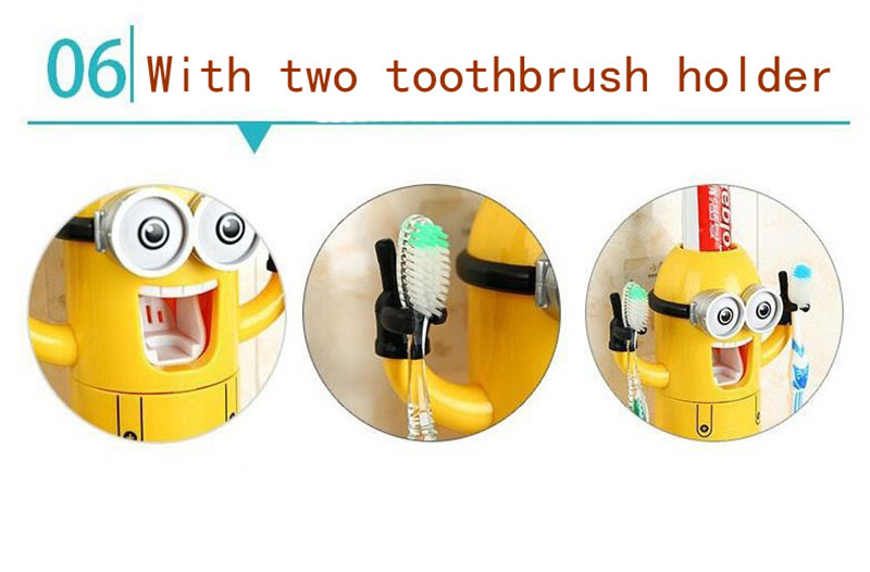 Minion Automatic Toothpaste dispenser + Brush Holder 13