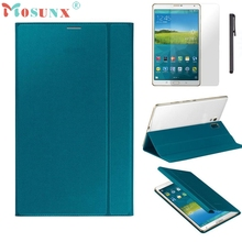 Cover Case Ultra Slim Tablet PU Leather Cover Case for Samsung Galaxy Tab S 8.4 Inch T700/T705 with Film and Pen