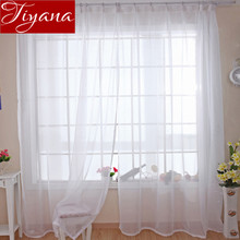 Pure Solid Voile Modern Simple Windows Screen Yarn Panel Living Room Marriage Room Kitchen Celebration Curtains Tulle T&184 #20