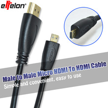 Effelon 1.4V 1M/1.5M/3M/5M Micro HDMI Cable HDMI Male to Micro Male HDMI Cable For Tablet mobile phone to connect HD TV(China)