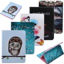 For Samsung Galaxy Tab A 9.7 Case Ultra Slim Cover Stand Cartoon PU Leather Case For Samsung Galaxy Tab A SM-T550 T555 Tablet