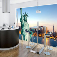 beibehang Statue of Liberty New York City Mural Background Wall Customized Living Room Bedroom Wallpaper Mural