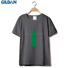 GILDAN Cool T-shirts Designs Best Selling Men Rage Against The Machine Lady Liberty Men's T-shirt Black(China)