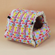 Hot Sale Hamster Rabbit House Bed Detachable Guinea Pig Hedgehog Rat Hammock Warm Hanging Nest Small Pet Accessories(China)