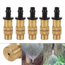 10 pcs Misting Nozzle Gardening Water Cooling Thread Sprinkler Spray Nozzle Adjustable Brass For Irrigation System