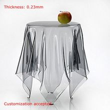 SM 0.23mm Multi Sizes Customization Made Soft Glass Transparent Waterproof Oilproof  PVC Tablecloths Table Cover