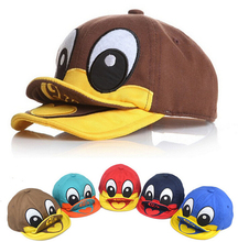 Free shipping 2014 New Design little duck style baby hat sun-shading children boy girl kids baseball cap sport brand