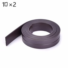 High Quality 1M 10 x 2 mm Rubber Self Adhesive Magnetic Stripe Flexible Magnet DIY Craft Tape for shop office home school file