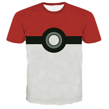 2016 Rock Hip Pop Pokemon Pokeball Catch Em Cartoon 3D Shirt Women Men Shirt Tee Tops Fashion T shirts Plus Size Camisetas