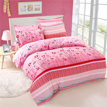 Sookie Soft Touch Sanding Watermelon Red 3/4 Pieces Bedding Sets for Girls Pink Duvet Cover Sets Pillow Cases and Flat Sheet