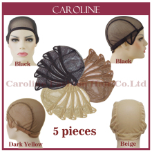 5pcs Wholesale Cheap Wig Cap For Making Wigs With Adjustable Straps Weaving Caps For Women Hair Net & Hairnets Easycap 6032F(China)