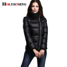 Winter hoodies Jacket Women Classic Lady Down Jackets Stand Collar gold Zipper down cotton Scasacos De Inverno Feminino S-XL