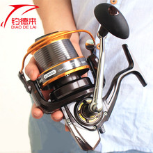 Full Metal 12+1BB 3000-9000 Series Surf Spinning Fisihng Reels Big Game Salt Water High-Profile Upscale Aluminum Spool