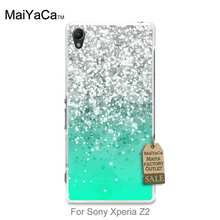 MaiYaCa Luxury Fashion 3D phone case Luminous diamonds stone in mint For case Sony Xperia Z2 z3 z4 z5 z5compact(China)