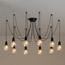Modern Vintage DIY Pendant Light Retro Edison Bulb E27 Spider Lamp Industrial Loft Decoration Suspension Light E27 Lamp Holder
