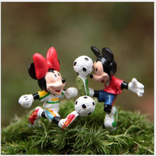 2pcs A set Minnie Football Lovers Hand To Do DIY Wild Landscape More Meat Micro Landscape Gardening Doll Free Shipping x41