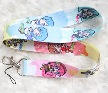 Small wholesale New 10pcs Cartoon Japanese anime Mobile Cell Phone Lanyard Neck Straps Party Gifts Free shipping  H-137
