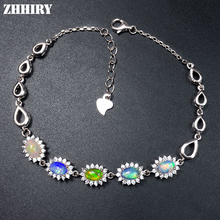 Buy ZHHIRY Natural Opal Bracelet Solid 925 Sterling Silver Gem Stone Women Jewelry Fire Gems Color Prom Jewelry for $54.60 in AliExpress store