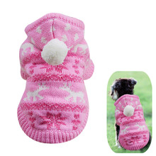 Christmas Dog Cat Coat Hoodie Winter Sweater Puppy Pet Clothes for Small Dog Warm Pets Costume Apparel Wholesale NOSP27(China)